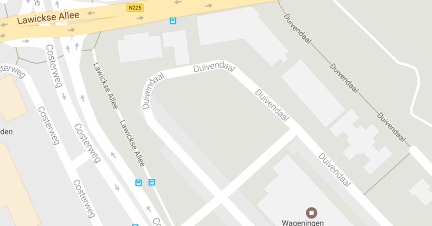Kaart van de locatie van Kinderfestival Wageningen