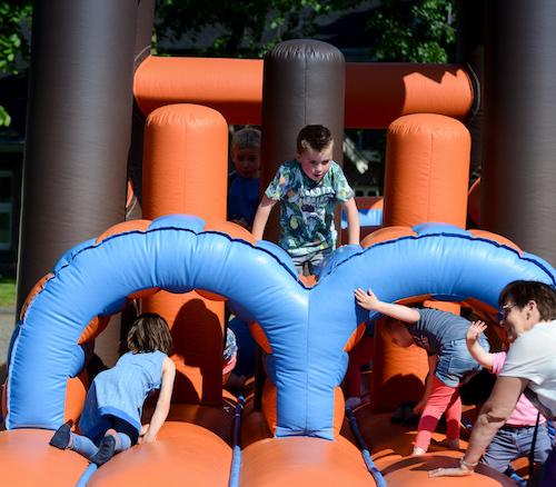 Nog een springkussen op Kinderfestival Wageningen